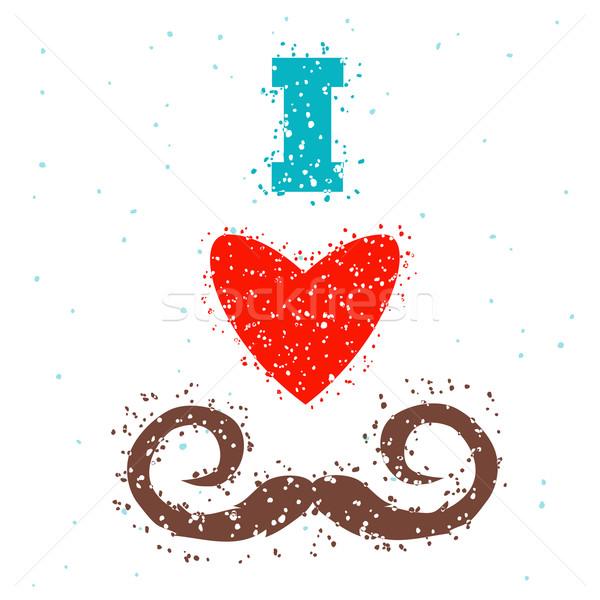 i love mustache Stock photo © Dashikka