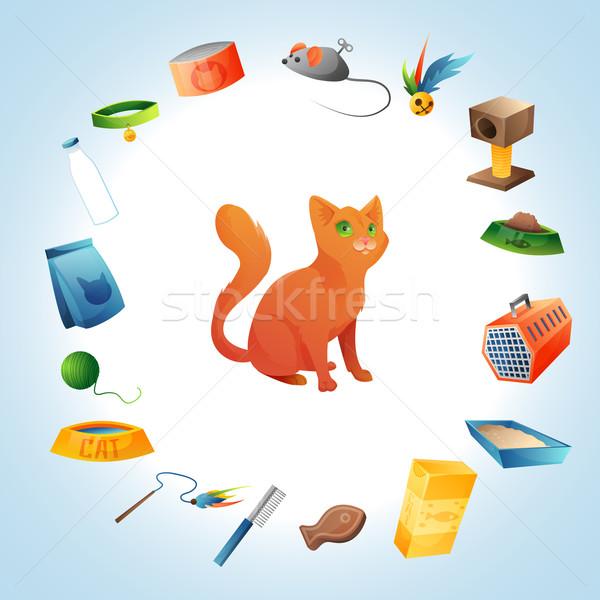 Cat stuff concept Stock photo © Dashikka