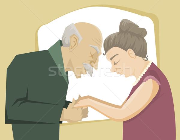 Szeretet idő boldog idős pár tart egyéb Stock fotó © Dashikka