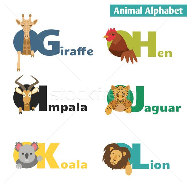 Сток-фото: животного · алфавит · письма · дети · образование · весело
