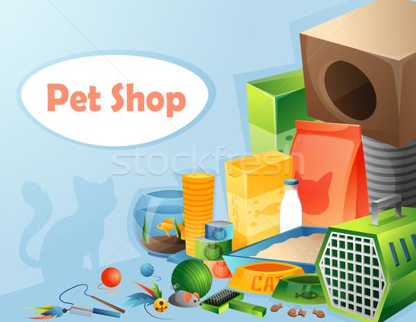 Pet shop concept Stock photo © Dashikka