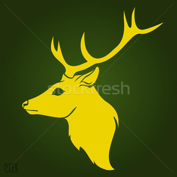Deer head silhouette  Stock photo © Dashikka