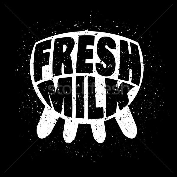 свежее молоко белый темно Гранж дизайна черный Сток-фото © Dashikka