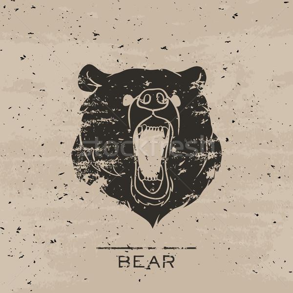Big black bear roaring Stock photo © Dashikka
