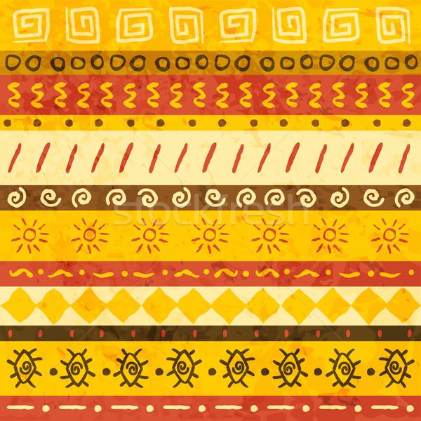 африканских орнамент бесшовный аннотация дизайна фон Сток-фото © Dashikka