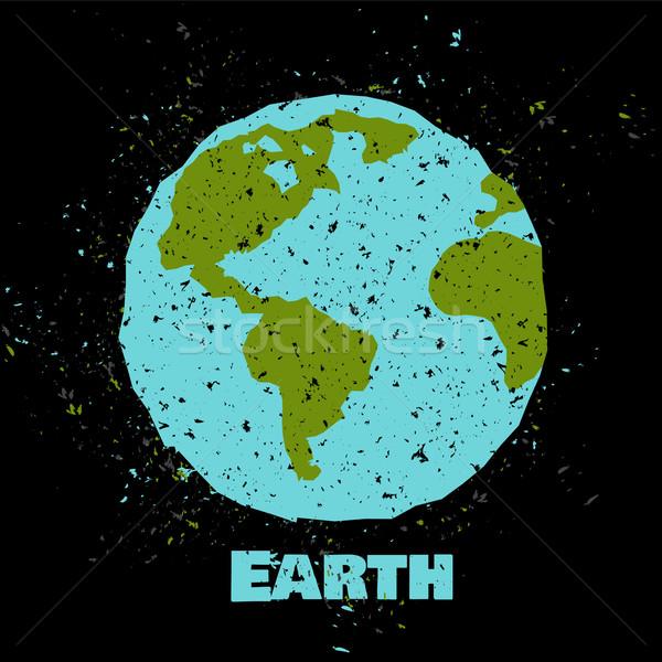 земле плакат текстуры бумаги карта Сток-фото © Dashikka