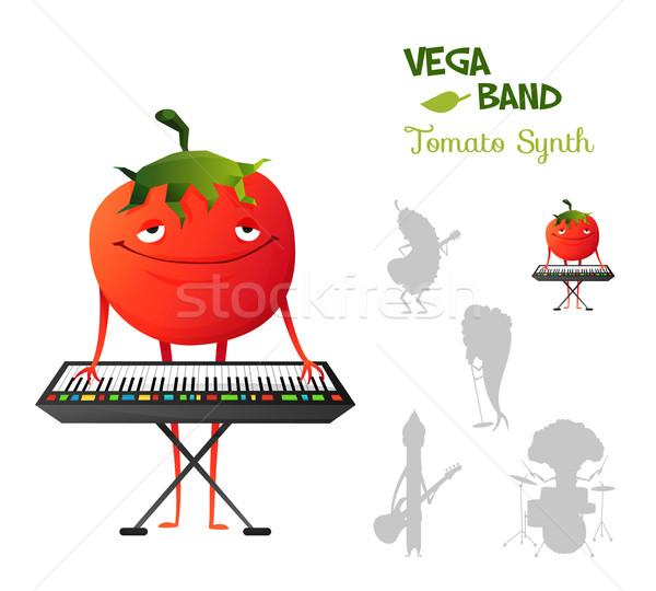 Pacífico engraçado emoticon tomates jogar banda Foto stock © Dashikka