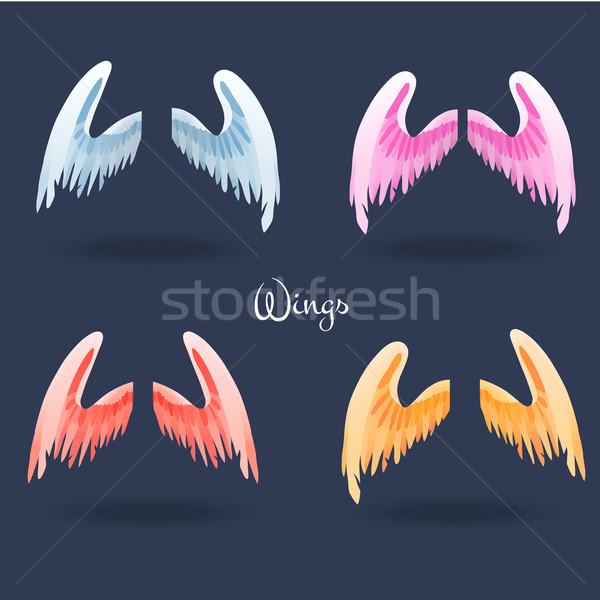 Zestaw inny kolorowy pary magic skrzydełka Zdjęcia stock © Dashikka