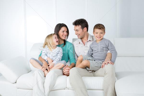 孤立した グループ 愛らしい 家族 楽しく 見える ストックフォト © Dave_pot