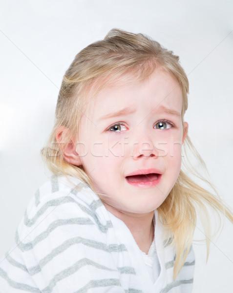 closeup of very sad young girl Stock photo © Dave_pot