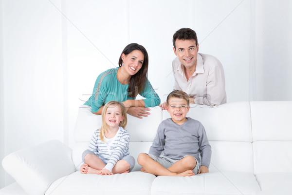Сток-фото: портрет · улыбаясь · семьи · матери · отец · детей