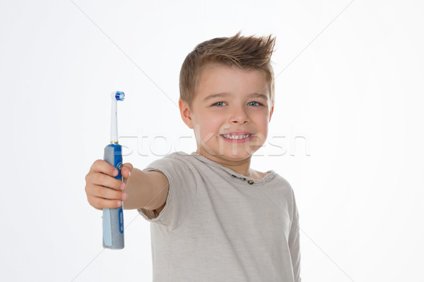 young child in advertising pose Stock photo © Dave_pot