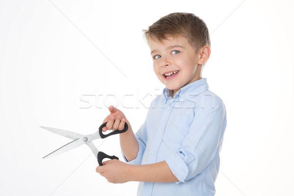 kid with scissors  Stock photo © Dave_pot