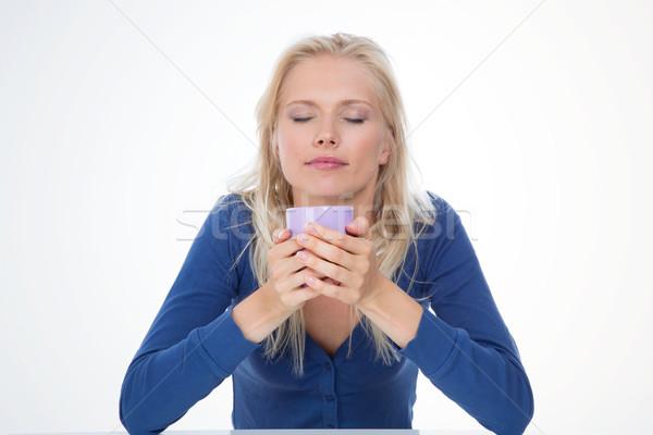 Kobieta dość model relaks Zdjęcia stock © Dave_pot