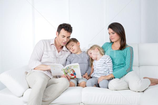 Aile kitap baba masal adam çocuk Stok fotoğraf © Dave_pot