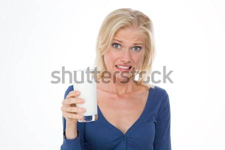 smiling and caucasian woman on closeup Stock photo © Dave_pot