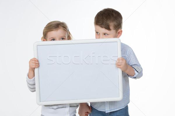 カップル 友達 白 2 子供 隠蔽 ストックフォト © Dave_pot