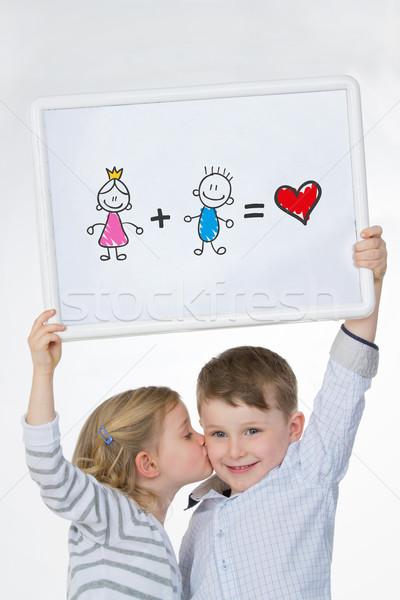 Znajomych biały kobiet dziecko brat Zdjęcia stock © Dave_pot