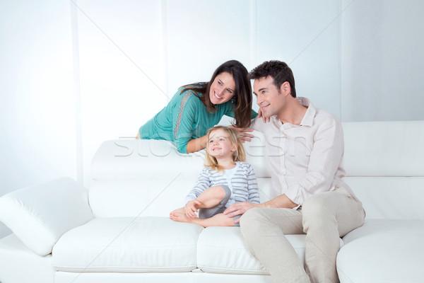 Aile mutlu anne baba kız Stok fotoğraf © Dave_pot