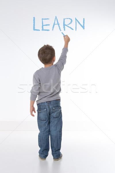 Temel ilke hayat çocuk kelime beyaz Stok fotoğraf © Dave_pot