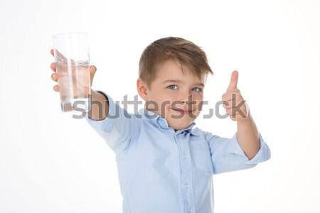 Dziecko chłopca kciuk w górę strony Zdjęcia stock © Dave_pot