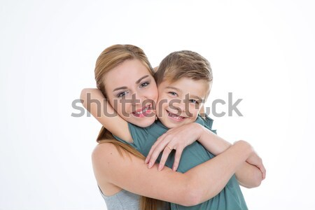 brother hugs his sister with love Stock photo © Dave_pot