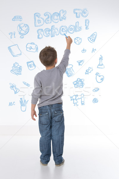 ストックフォト: 小さな · 子 · 幸せ · 学ぶ · 新しい