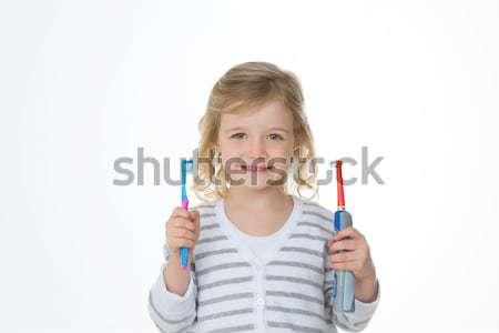устный ухода выбора девушки Сток-фото © Dave_pot