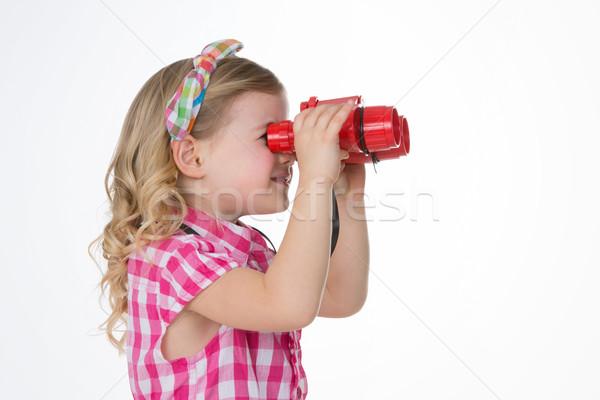 Сток-фото: профиль · блондинка · девушки · мало · ребенка
