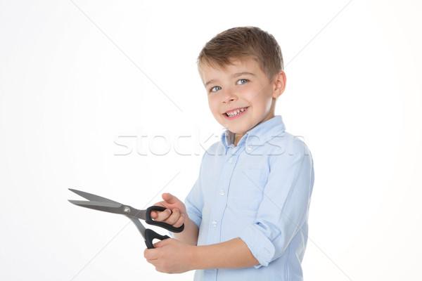 Yaratıcı mutlu çocuk çocuk eller okul Stok fotoğraf © Dave_pot