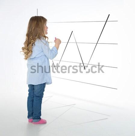 Kid учитель ребенка ждет инструкции Сток-фото © Dave_pot