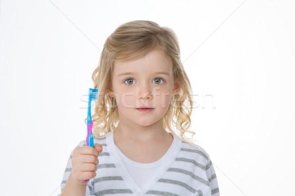 серьезный Kid недоуменный молодые ребенка Сток-фото © Dave_pot
