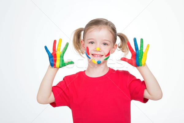 Mały indian dziewczyna młodych kobiet dziecko Zdjęcia stock © Dave_pot