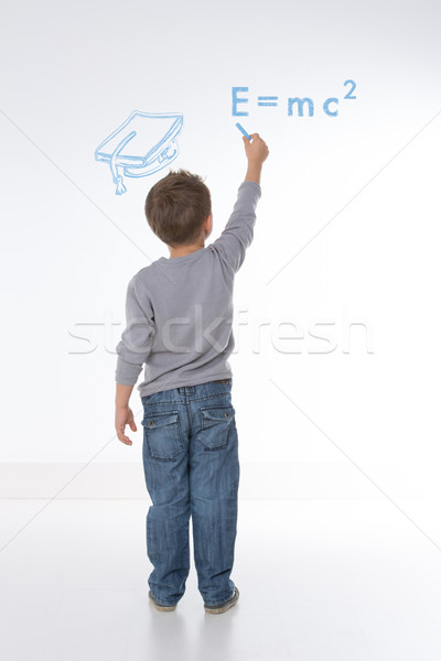 ребенка математика формула мало Kid решить Сток-фото © Dave_pot