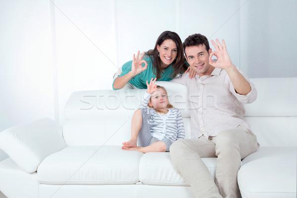 Anne baba kız neden el Stok fotoğraf © Dave_pot