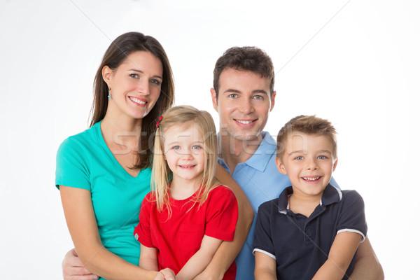 dfd2d2983 Família · branco · mãe · pai · crianças - foto stock © Davide Erba ...