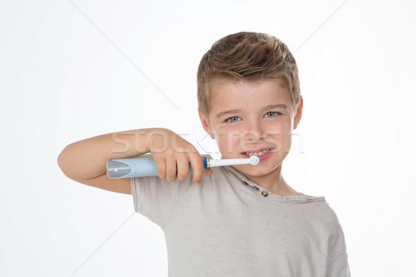 Oraal dagelijks schoonmaken weinig kid tanden Stockfoto © Dave_pot