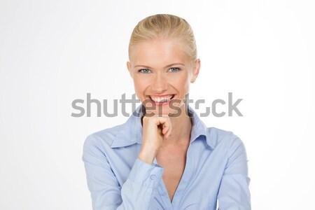 Dziewczyna odizolowany piękna kobieta stwarzające działalności Zdjęcia stock © Dave_pot