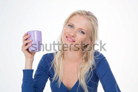 Colazione mattina bella donna infusione risveglio ragazza Foto d'archivio © Dave_pot