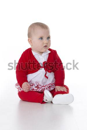 Bebek görmek ne kız yüz Stok fotoğraf © Dave_pot