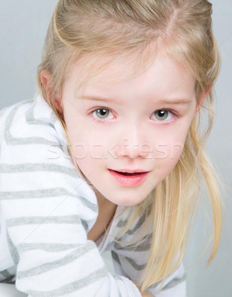 かなり 女の子 ブロンド 子供 ポーズ 商業 ストックフォト © Dave_pot