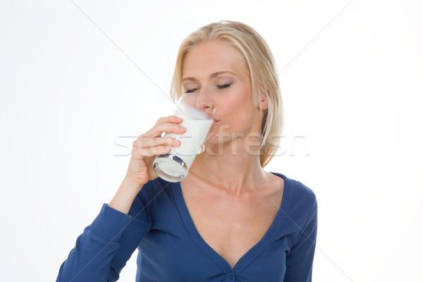 Portret dość dziewczyna rano piękna kobieta śniadanie Zdjęcia stock © Dave_pot