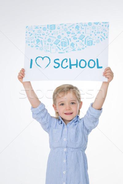 улыбаясь Kid белый Nice девушки важный Сток-фото © Dave_pot