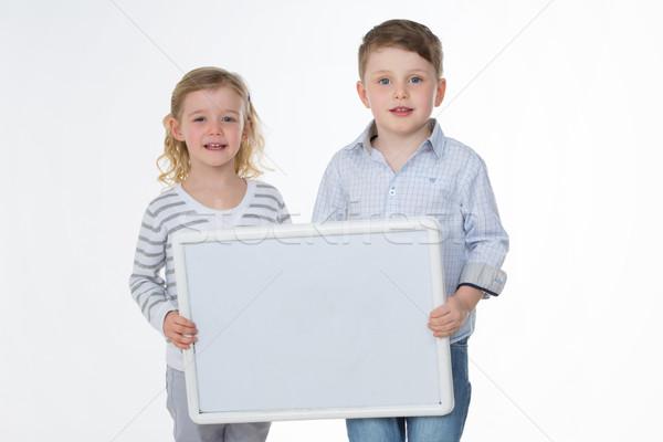 Portre küçük kardeşler iki çocuklar Stok fotoğraf © Dave_pot