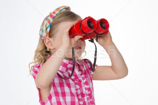 curious girls looking at the horizon Stock photo © Dave_pot
