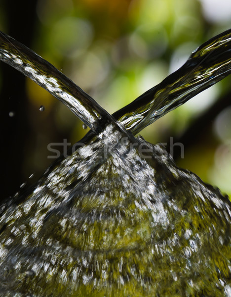 Two streams of water colliding Stock photo © davemontreuil