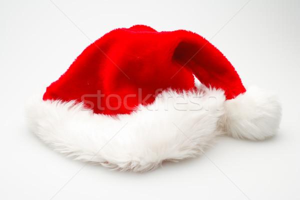 Noel şapka yalıtılmış tatil kürk parlak Stok fotoğraf © david010167
