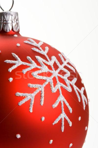 Kar tanesi kırmızı Noel önemsiz şey kış Stok fotoğraf © david010167