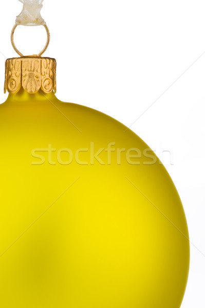 Lebendige gelb Weihnachten Spielerei isoliert weiß Stock foto © david010167