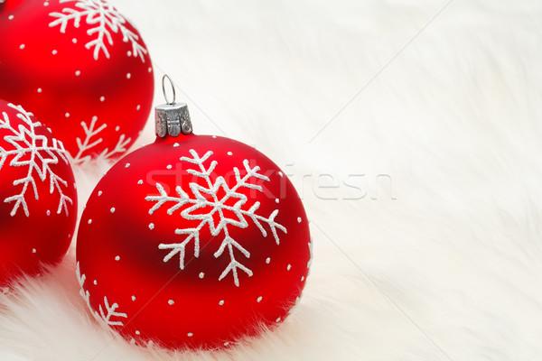 Kırmızı önemsiz şey kar eğlence renk Stok fotoğraf © david010167
